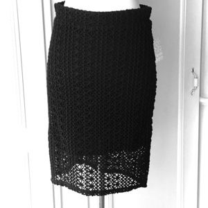 Free People black lace skirt, lined, Sz 10